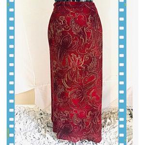 Coldwater Creek Full-Length Paisley  Wrap Skirt